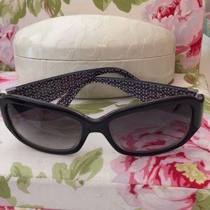 Coach Black Whitney Sunglasses New in Case